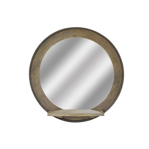 Nattapong Shelf Mirror comes in a natural finish with a retro classic style and is available from roomshaped.co.uk