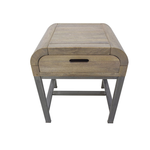 Nattapong Side Table comes in a natural finish with a retro classic style and is available from roomshaped.co.uk