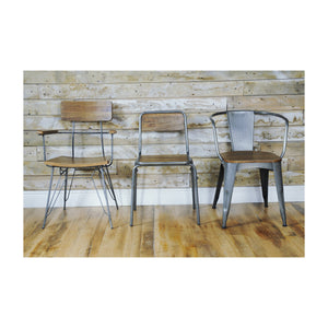 Nickindo Stacking Chair comes in a natural finish with a new industrial style and is available from roomshaped.co.uk
