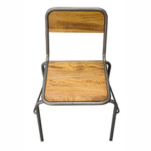 Load image into Gallery viewer, Nickindo Stacking Chair comes in a natural finish with a new industrial style and is available from roomshaped.co.uk