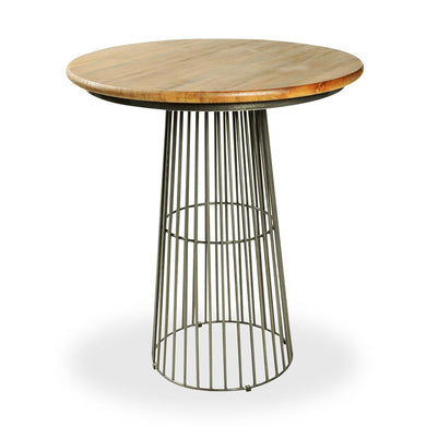 Nisrina Bar Table comes in a natural finish with a new industrial style and is available from roomshaped.co.uk