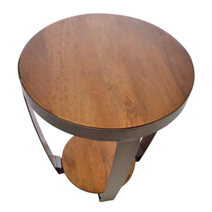 Rio Lamp Table comes in a natural finish and an oak finish with a new industrial style and is available from roomshaped.co.uk