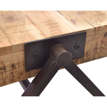 Load image into Gallery viewer, Dinda Coffee Table comes in a natural finish with a distressed style and is available from roomshaped.co.uk