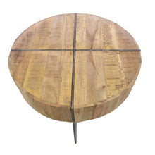 Load image into Gallery viewer, Dwi Coffee Table comes in a natural finish with a distressed style and is available from roomshaped.co.uk
