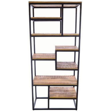 Aditya Open Bookcase comes in a natural finish with a distressed style and is available from roomshaped.co.uk