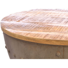 Load image into Gallery viewer, Bogna Storage Coffee Table comes in a natural finish with a hammered style and is available from roomshaped.co.uk