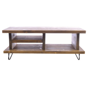 Fajar 100 TV Unit comes in a natural finish with a old pine style and is available from roomshaped.co.uk