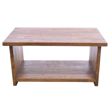 Clarissa Coffee Table comes in a natural finish with a old pine style and is available from roomshaped.co.uk