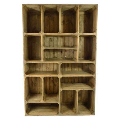 Rizki Display Unit has a old pine style and is available from roomshaped.co.uk