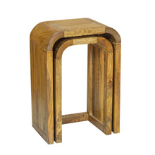 Load image into Gallery viewer, Pakpao Lamp Tables Pair comes in a natural finish with a city style and is available from roomshaped.co.uk