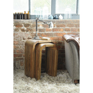 Pakpao Lamp Tables Pair comes in a natural finish with a city style and is available from roomshaped.co.uk