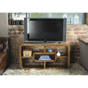 Pakpao Media Unit comes in a natural finish with a city style and is available from roomshaped.co.uk