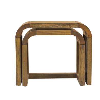 Pakpao Nest of Tables comes in a natural finish with a city style and is available from roomshaped.co.uk