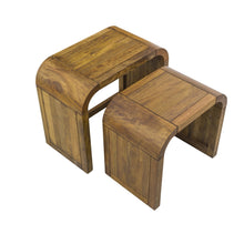 Load image into Gallery viewer, Pakpao Nest of Tables comes in a natural finish with a city style and is available from roomshaped.co.uk