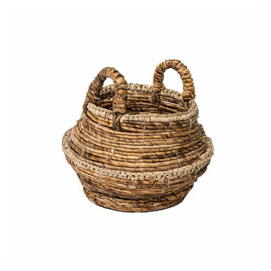Rani Plant Basket comes in a natural finish with a java style and is available from roomshaped.co.uk