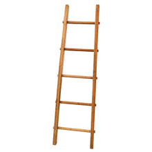 Load image into Gallery viewer, Vania Display Ladder comes in an oak finish with a industrial style and is available from roomshaped.co.uk