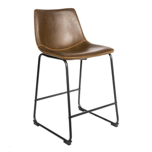 Salsabilla Stool - Set of 2 comes in brown and chestnut and grey with a new industrial style and is available from roomshaped.co.uk