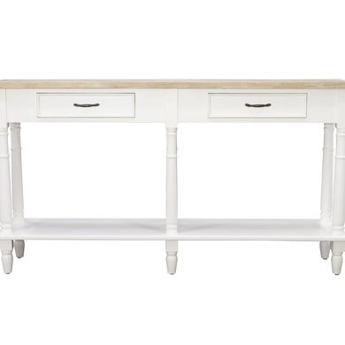 Sidony 2 Drawer Console comes in white with a country style and is available from roomshaped.co.uk