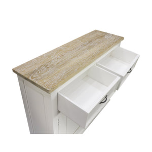 Sidony Cupboard comes in white with a country style and is available from roomshaped.co.uk