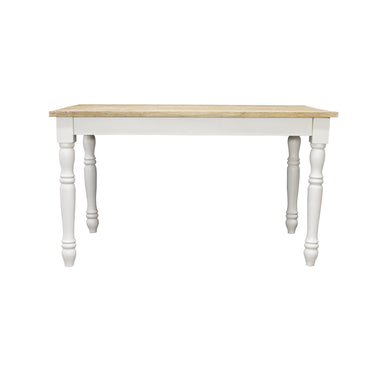Sidony Dining Table comes in white with a country style and is available from roomshaped.co.uk