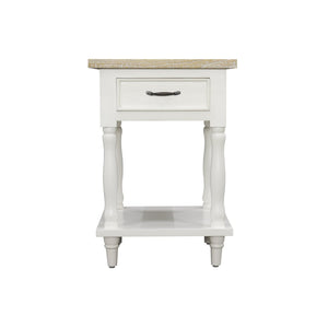 Sidony Tall Side Table comes in white with a country style and is available from roomshaped.co.uk