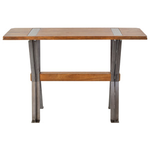 Prendy Side Table comes in a natural finish and an oak finish with a new industrial style and is available from roomshaped.co.uk
