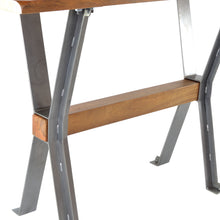 Load image into Gallery viewer, Prendy Side Table comes in a natural finish and an oak finish with a new industrial style and is available from roomshaped.co.uk