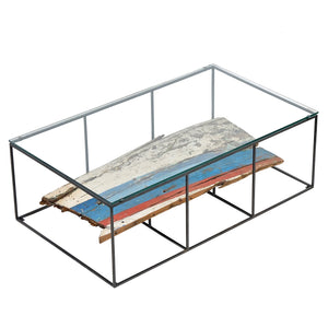 Dea Glass Top Coffee Table comes in a multi-colour finish with a recycled style and is available from roomshaped.co.uk