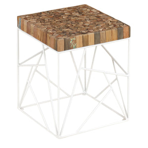Dea Recycled Side Table comes in a multi-colour finish with a recycled style and is available from roomshaped.co.uk