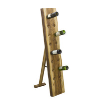 Load image into Gallery viewer, Sunstra 16 Bottle Wine Rack comes in a natural finish with a new industrial style and is available from roomshaped.co.uk