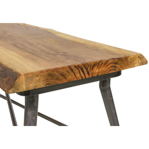 Sunstra Bench comes in a natural finish with a new industrial style and is available from roomshaped.co.uk