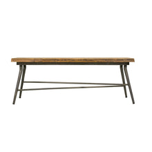 Load image into Gallery viewer, Sunstra Bench comes in a natural finish with a new industrial style and is available from roomshaped.co.uk