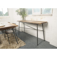 Load image into Gallery viewer, Sunstra Console Table comes in a natural finish with a new industrial style and is available from roomshaped.co.uk