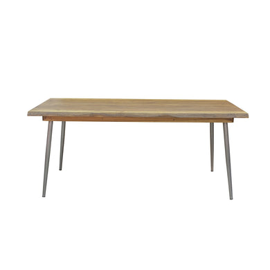 Sunstra Dining Table comes in a natural finish with a new industrial style and is available from roomshaped.co.uk