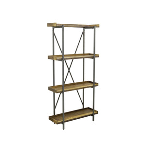 Sunstra Tall Shelf comes in a natural finish with a new industrial style and is available from roomshaped.co.uk