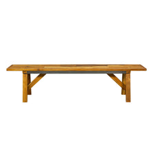 Load image into Gallery viewer, Thao Reclaimed Dining Bench comes in a natural finish with a recycled style and is available from roomshaped.co.uk