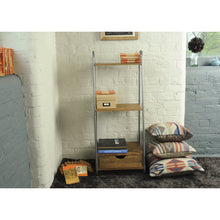 Load image into Gallery viewer, Thom 3 Shelves comes in a natural finish with a new industrial style and is available from roomshaped.co.uk