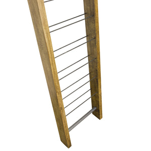 Thom 9 Bottle Wine Rack comes in a natural finish with a new industrial style and is available from roomshaped.co.uk