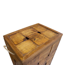 Load image into Gallery viewer, Thom Laundry Basket comes in a natural finish with a new industrial style and is available from roomshaped.co.uk
