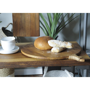 Thom Round Server comes in a natural finish with a new industrial style and is available from roomshaped.co.uk