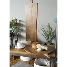 Load image into Gallery viewer, Thom Round Server comes in a natural finish with a new industrial style and is available from roomshaped.co.uk