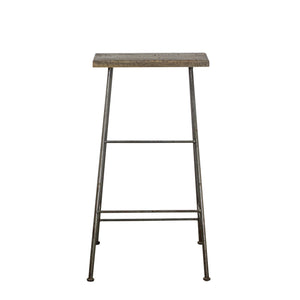 Thom Simple Stool comes in a natural finish with a new industrial style and is available from roomshaped.co.uk