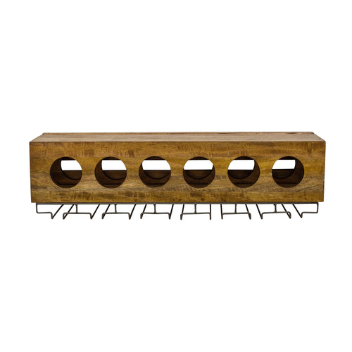 Thom Wine and Glass Rack comes in a natural finish with a new industrial style and is available from roomshaped.co.uk
