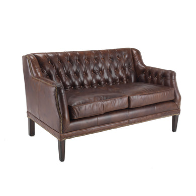 Olga 2-seater leather sofa available from roomshaped.co.uk