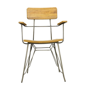 Trai Dining Chair comes in a natural finish with a new industrial style and is available from roomshaped.co.uk