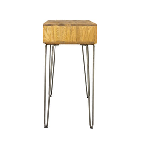 Trang Console Table comes in a natural finish with a new industrial style and is available from roomshaped.co.uk