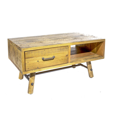 Uma Coffee Table with Open Shelf comes in a natural finish with a country style and is available from roomshaped.co.uk