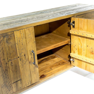 Uma Large Sideboard comes in a natural finish with a country style and is available from roomshaped.co.uk