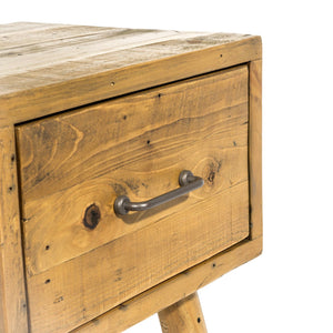 Uma Side Table with Drawer comes in a natural finish with a country style and is available from roomshaped.co.uk
