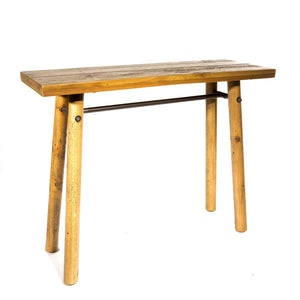 Uma Simple Console comes in a natural finish with a country style and is available from roomshaped.co.uk